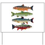 4 Char fish Yard Sign