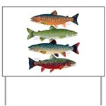 4 Char fish Yard Sign