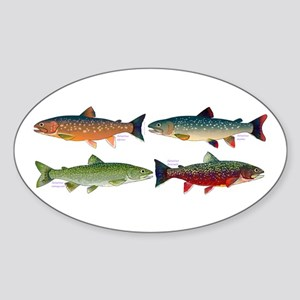 4 Char fish Sticker
