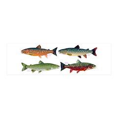 4 Char fish Wall Decal