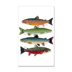 4 Char fish Rectangle Car Magnet