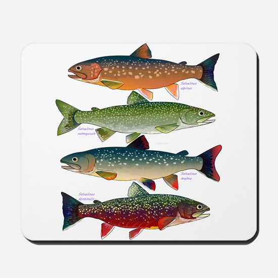 4 Char fish Mousepad