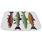 4 Char fish Bathmat