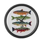 4 Char fish Large Wall Clock