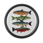 4 Char fish Large Wall Clock