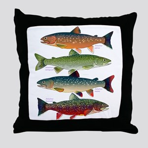 4 Char fish Throw Pillow