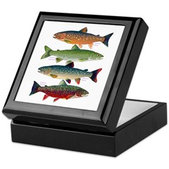 4 Char fish Keepsake Box
