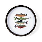 4 Char fish Wall Clock