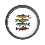 4 Char fish Wall Clock