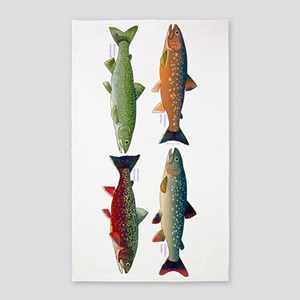 4 Char fish Area Rug