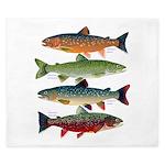 4 Char fish King Duvet
