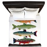 4 Char fish King Duvet