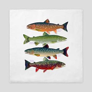 4 Char fish Queen Duvet