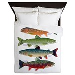 4 Char fish Queen Duvet