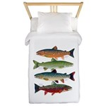 4 Char fish Twin Duvet