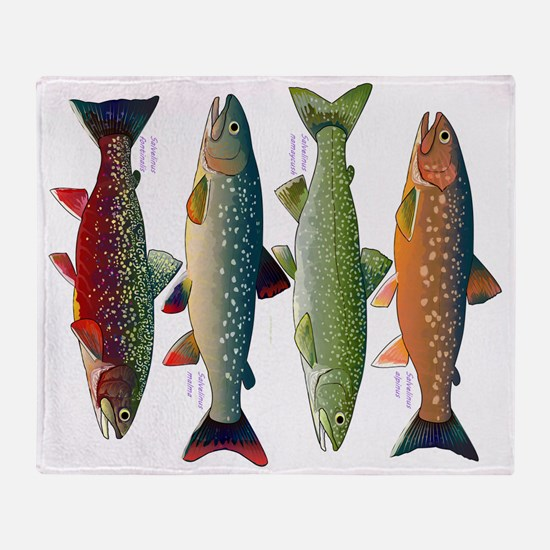 4 Char fish Throw Blanket