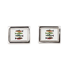 4 Char fish Rectangular Cufflinks