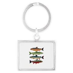 4 Char fish Keychains
