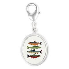 4 Char fish Charms