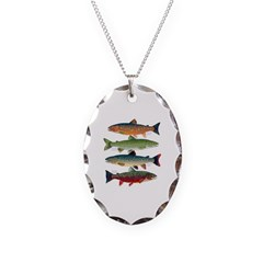 4 Char fish Necklace