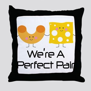 Couples Mac and Cheese Pair Throw Pillow