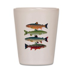 4 Char fish Shot Glass