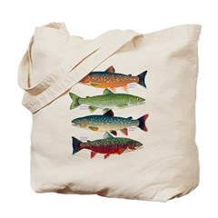 4 Char fish Tote Bag