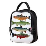 4 Char fish Neoprene Lunch Bag
