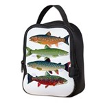 4 Char fish Neoprene Lunch Bag