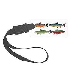 4 Char fish Luggage Tag