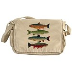4 Char fish Messenger Bag