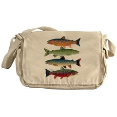 4 Char fish Messenger Bag