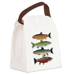 4 Char fish Canvas Lunch Bag