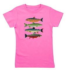 4 Char fish Girl's Tee