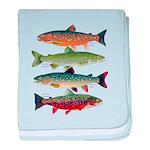 4 Char fish baby blanket