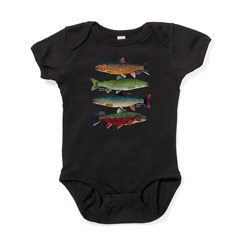 4 Char fish Baby Bodysuit