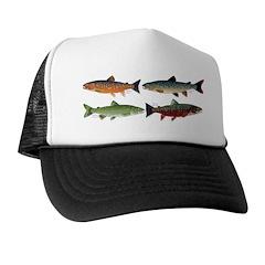 4 Char fish Trucker Hat