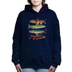 4 Char fish Women's Hooded Sweatshirt