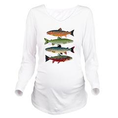 4 Char fish Long Sleeve Maternity T-Shirt