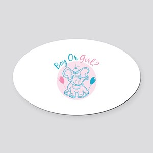 Boy or Girl Oval Car Magnet