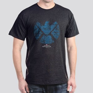 SHIELD Logo Alien Writing Dark T-Shirt