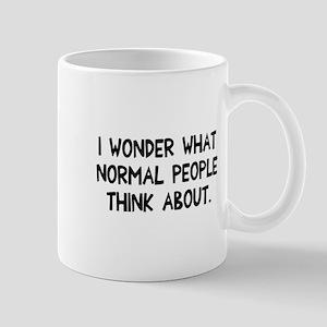 I wonder normal people Mug