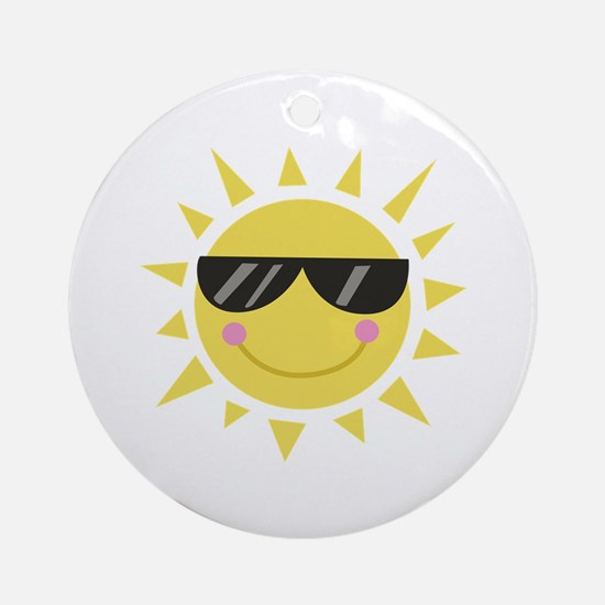 Smile Sun Ornament (Round)