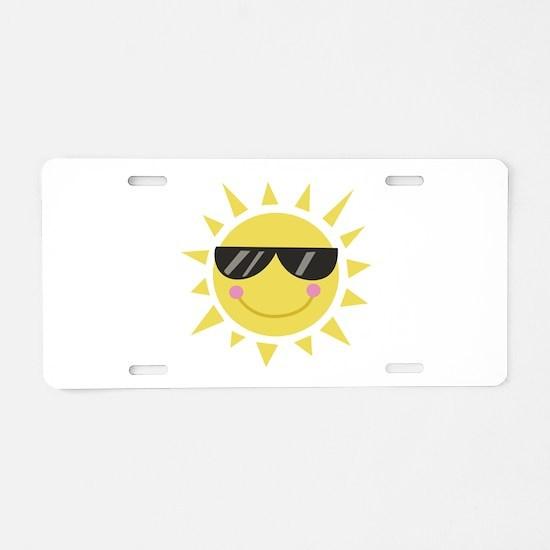 Smile Sun Aluminum License Plate