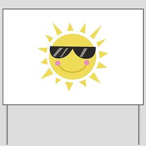 Smile Sun Yard Sign