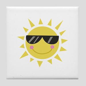 Smile Sun Tile Coaster