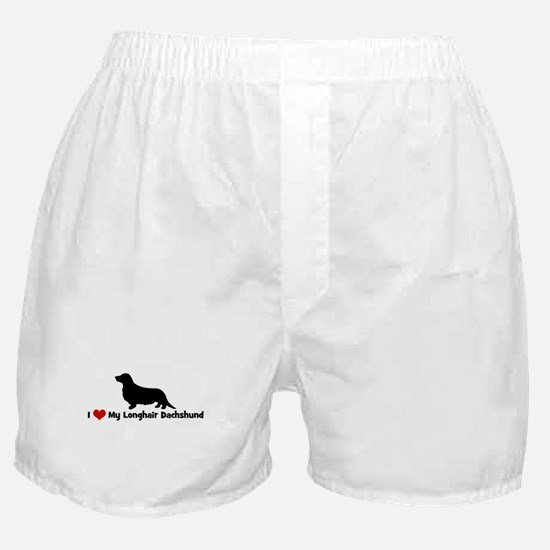 I Love My Longhair Dachshund Boxer Shorts