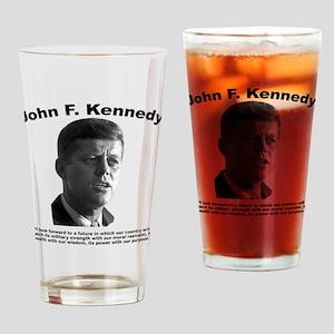 JFK Power Drinking Glass