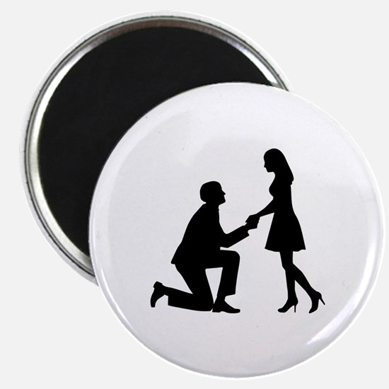 """Wedding Marriage Proposal 2.25"""" Magnet (10 pack)"""