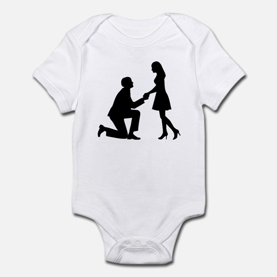 Wedding Marriage Proposal Infant Bodysuit